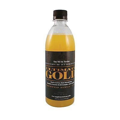 ULTIMATE GOLD 16 OZ DETOX DRINK Works in One Hour! Detoxify, Cleans Impurities