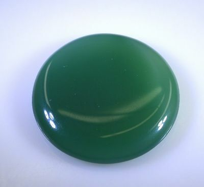 LARGE 15mm ROUND CABOCHON-CUT NATURAL AFRICAN DEEP FOREST-GREEN ONYX GEMSTONE