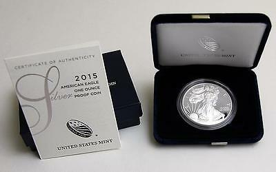 2015 W Silver Proof American Eagle Dollar US Mint $1 ASE Coin