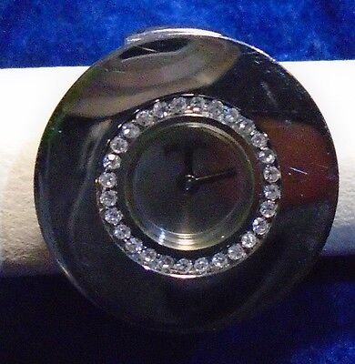 Silver FOLLI FOLLIE STEEL COLLECTION Watch Ring elastic bracelet works perfect