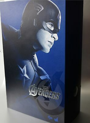 Hot Toys The Avengers - Captain America - MMS174 1/6th Scale Figure - New!