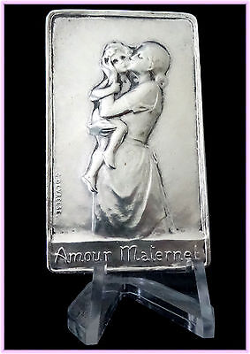 Bronze Silvered  Medal - Motherly Love - Great Plaque Or Medal