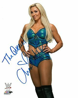 """CHARLOTTE WWE SIGNED PHOTO WRESTLING 8x10"""" NXT THE QUEEN"""