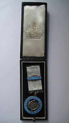 Antique Victorian Silver Enamel Masonic Jewel Confidence Lodge 1898 Boxed