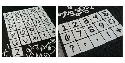 DISNEY UPPERCASE LETTERS ALPHABET and NUMBERS Stencils Set Individual Reusable