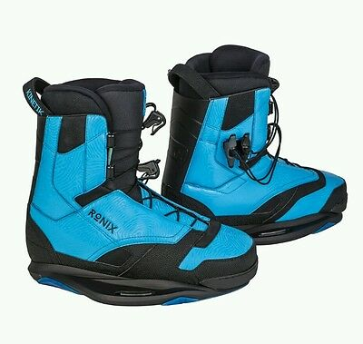 Ronix Kinetic Project closed toe Wakeboard Bindings boots night owl blue 10 & 11
