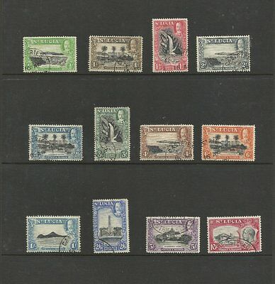 St.lucia 1936 Fine Used Stamp Set Sg113-124 12 Stamps