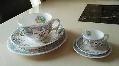 Royal Doulton The Snowman Teacup Plate and Saucer Partytime Trio Miniature Set