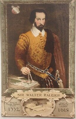 Sir Walter Raleigh , Postcard.