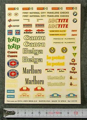 SCALEXTRIC EXIN 1:32 Vintage ORIGINAL SLOT DECALS Calcas - CEPSA TOTIP BELGA NEW
