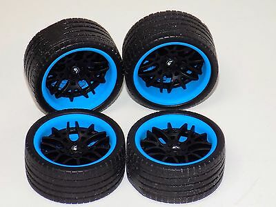 1/18 AB Forgiato Lamborghini Ferrari 4 black wheels blue calipers tires 1007