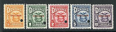 PANAMA 1924 ARMS ISSUE with SPECIMEN OVERPRINTS 234-38