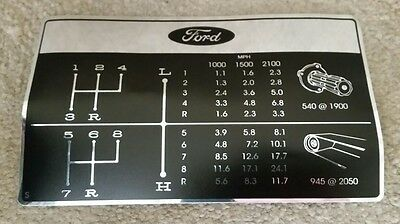 Ford 2000 3000 4000 Tractor Speed Decal
