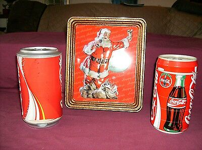 coca cola tins Coaster tins Christmas tin Lot