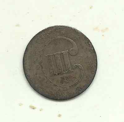 United States, 3 cents, believed to be 1853 but nCD - 75% silver