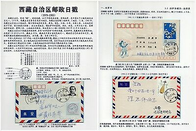 Postmark of Tibet Autonomous Region(1979-1983) of the study one-frame(16page)