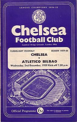 CHELSEA v ATLETICO BILBAO 1959/60 FRIENDLY