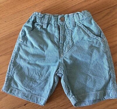 Polarn O Pyret Baby Boys Green Stripe Shorts Hardly Worn vGC 1.5-2years ( POP 92