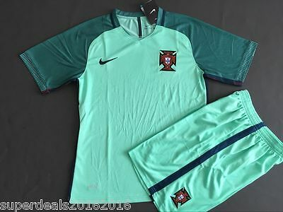 Portugal  Euro 2016 Soccer Jersey Shirt & Shorts Away Men's Kits S, M, L, XL