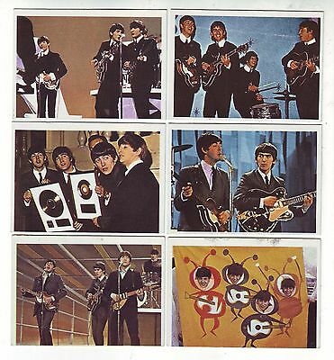 1960's  BEATLES COLOR & DIARY CARDS LOT (6)
