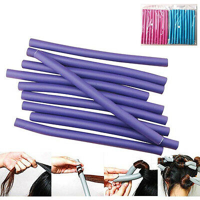 HOT Curler Makers Soft Foam Bendy Twist Curl tool DIY Styling Hair Rollers 10pcs