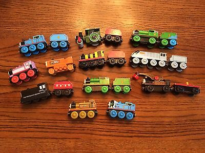 Thomas The Train Wooden Train Lot - Engines, Tenders, 20 Pieces, Harvey, Rosie..