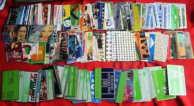 WORLD - Used Phone Cards over 300 PC
