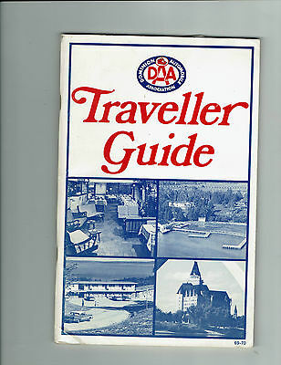 1969-70 Automobile Association Traveller Guide, Canada, + motel business card