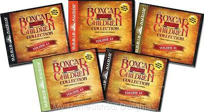 NEW 15 Audiobooks 5 BOXCAR CHILDREN COLLECTION Sets 41 42 43 44 45  30 Audio CDs