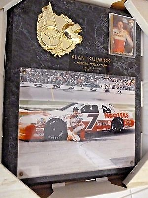 Alan Kulwicki Nascar collection large Plaque Limited ed #12 of 1000 (Hooters)