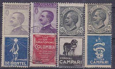 ITALY 1924-25 Advertising Stamp 4v MNH / Used B7989