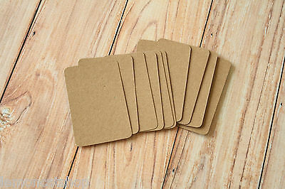 KRAFT MINI business cards 50pc recycled brown organic eco friendly manilla cards