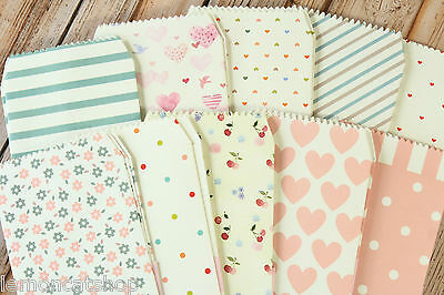 Natural Pattern Tall Envelopes Set kawaii colorful hearts love letter stationery