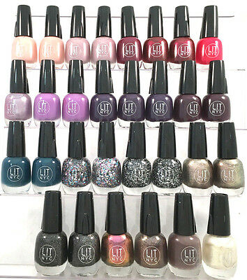 (30) Lit NYC Nail Polish Random Wholesale Lot New  With LED Light Cap