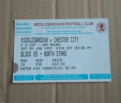 Middlesbrough v Chester City FA Cup 3rd round - 4/1/1997