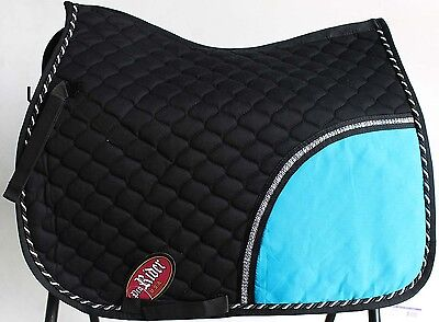 Horse Quilted ENGLISH SADDLE PAD Tack Trail Riding Turquoise 72F01R