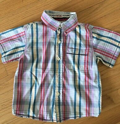 Joules Boys Short sleeve Summer Check Shirt Age 4