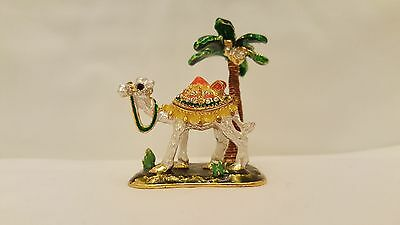 Dubai Souvenir Camel With Palm Tree Metal And Enamel From Uae