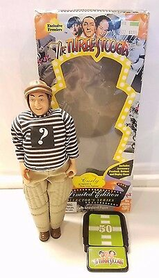 1996 The Three Stooges CURLY DOLL Limited Edition In Box (Missing Football) EUC