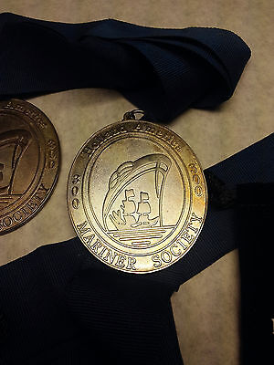 3 Pair of Holland America Honorary Mariners Society Medals 2-300 days 1-40k mile