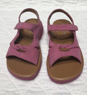 New Girls Jumping Jack Pink Leather Sandals Size 11M