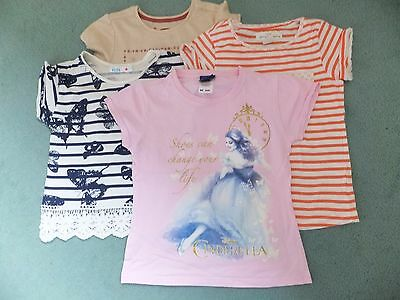 4x girls short sleeved tops.  Age 6-8 years.