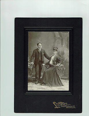 Antique cabinet photo, L. Coté photographer, Montréal, romantic couple