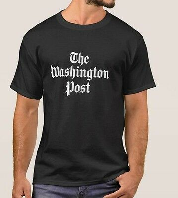 The Washington Post Logo Black T-Shirt S-4Xl Basic Tee Alstyle Newspaper New Tee