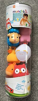 Bnib Munchkin Squirting Farmyard Bath Toy 8 Pieces