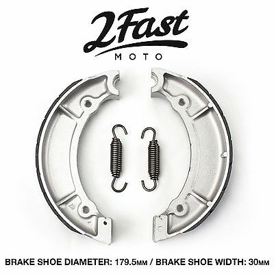 Yamaha RD200 RD250 Front Brake Shoes Grooved Replacement 168-25130-00 2FastMoto