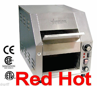 Fma Omcan 19938 Commercial Conveyor Toaster Bagel Bread Toaster  CE-CN-0254-T