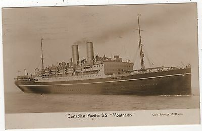 Real Photo Postcard - Canadian Pacific S.s. Montnairn - Posted Liverpool 1927