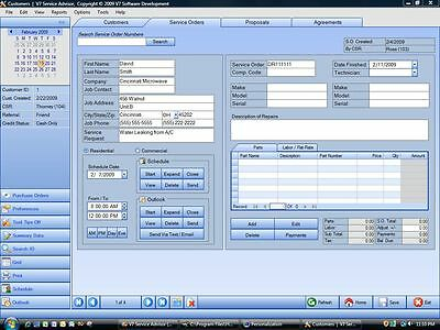Customer Tracking Software - Maintenance Contracts, Proposals, Sales, Scheduling