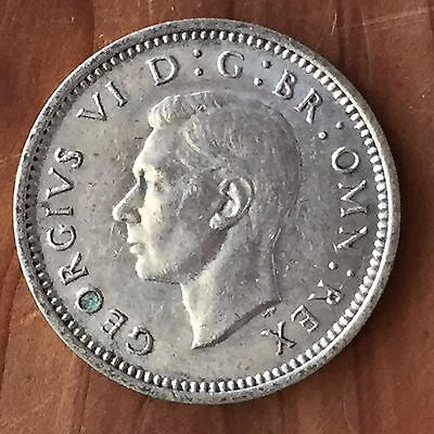 UK / Great Britain 3d Threepence 1937, George VI - XF, 1st Year